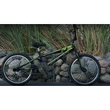 Bicicleta Bmx Slp F2 R20 Pintura Mate 48 Rayos +led