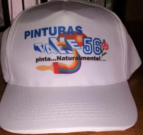 100 Gorras Blancas Con Logo. Mejor Precio Por Mayor. ce8939c4eb0