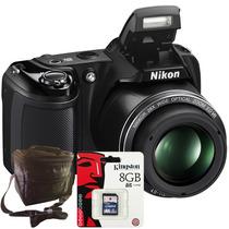 Nikon L340 20.2mp 28x Hd + Sd 8gb + Bolso + 1 Año Garantía!