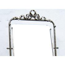 Historical*-espejo De Mesa Francia Sig. Xix Baño Plata-envío
