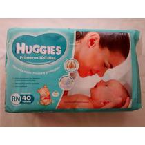 Super Oferta! 40 Pañales Recien Nacidos Huggies 100 Días