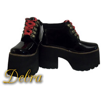 Zapatos Mujer Borcegos Botitas Botinetas Plataforma Charol
