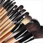 Set Brochas Y Pinceles Profesional Maquillaje 15 Piezas