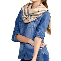 Camisa De Jean Elastizada Mujer - Talles S Al Xxl
