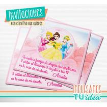 Princesas - Tarjetita Para Imprimir