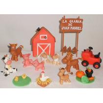 Granja Con Animales En Porcelana Fria Para Torta