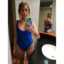 Body / Traje De Baño Enterizo / Malla Enteriza Azul Cavada