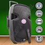 Bafle Potenciado Gbr Bateria Recargable-usb-bluetooth- 2 Mic