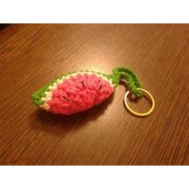 Llavero Sandía, Tejido A Crochet.ideal Souvenir