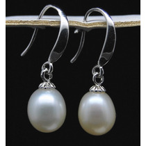Hermosos Aros Colgantes De Perlas Cultivadas Y Plata 925
