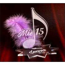 Souvenir Acrilico Nota 15 40 50 Flor Cumple Centro