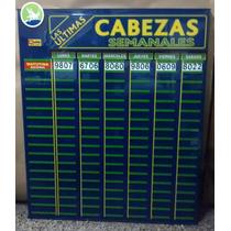 Cartel Quiniela Cabezas Semanal - Emporio Del Agenciero