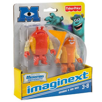 Set De 3 Figuras Monsters University Big Red George Disney