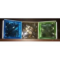 Ladrillos De Vidrio 19x19x8 Nube Colores Verde/marron/azul