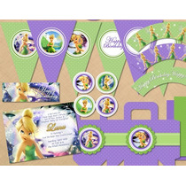 Kit Imprimible Thinkerbell Candy Bar Cotillon 2x1