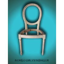 Sillas Luis Xv - Xvi - Esqueleto De Madera De Guindo
