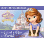 Kit Imprimible Princesa Sofia - 2x1 Candy Bar