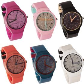 Relojes Silicona Glitter Por Mayor X 5 Unidade De Moda 2019