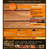Deck Madera Dura Grapia Sistema Tradicional O Clip