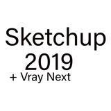 Sketchup 2019 +v-ray Next 4.0 Advanced Full-envio En El Acto + Materiales Y Componentes