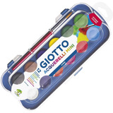 Acuarelas Giotto X12 Colores Plastico Intense Colors +pincel