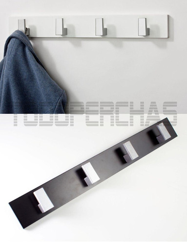 perchero de pared moderno de diseo laqueado blanco negro