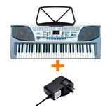 Kit Teclado Musical Mk2083 Con Sonidos + Fuente 9v