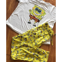 0e1854ba4 Conjunto Pijama Pantalon Bob Esponja Moda Envíos Mujer en venta en ...
