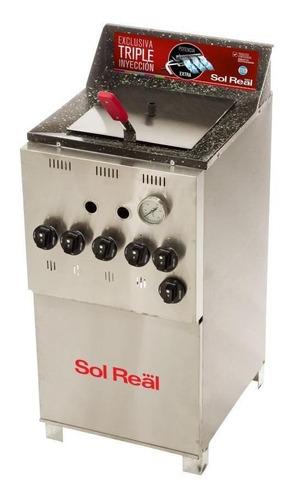 Freidora  Industrial Sol Real 044 Triple Inyección Plata