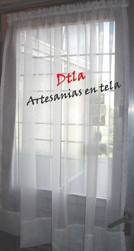 Cortinas visillos tela voile niza para puertas o ventanas for Puerta que abre para los dos lados