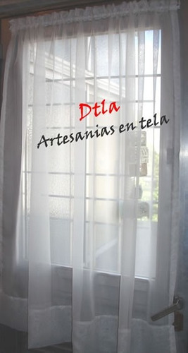 Cortinas visillos tela voile niza para puertas o ventanas 640 gvzpv precio d argentina - Telas para visillos cortinas ...