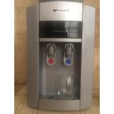 Dispenser De Agua Frio Calor Mesada Compresor H400 Plata