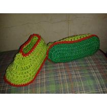 Pantuflas En Crochet Para Chicos