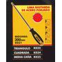 Lima Bastarda Acero Forjado Redonda 200mm Black Jack K031#