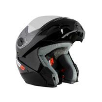 Casco Rebatible Homologado Hawk Rs5 Negro Brillante Motorbik