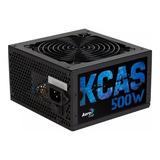 Fuente Pc Atx Aerocool Kcas-500w Kcas Series 110v/220v Negra