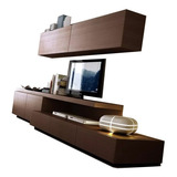 Rack Modular Led Mesa Tv Lcd Mueble Living Comedor Rack Full