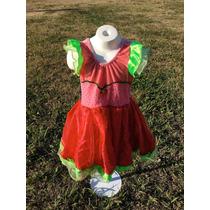 Disfraz Vestido De Frutillita Original Con Gorro Y Peluca