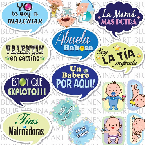 Imprimibles 18 Frases Props Baby Shower Party Fiesta Bebes 110