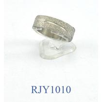 Alianza Ancha Diamantada Acero Quirúrgico Rjy1010 Talla 12