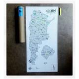 Mapa Para Marcar Lugares Visitados Argentina Raspar Viajes