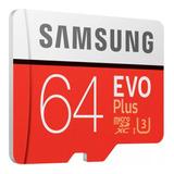 Memoria Micro Sd 64gb Samsung Evo Plus U3 4k 100mb/s Gopro