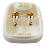 Aritos Abridores Bebe De Oro 18k Lili Bolita 2.5mm Li-101