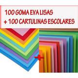 Goma Eva En Planchas X 100u + Cartulinas Escolares 100u