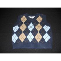 Chaleco (miniwear) Tejido A Rombos/ Talle: 0 - 3 Meses/ Usa.