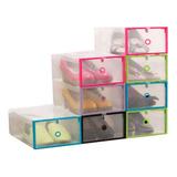 Organizador De Zapatos Cajas Pack 12 Talle 44 Transparente