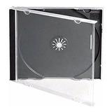 Cajas Acrílicas Cd / Dvd  Tray Negro En Pack De 50 Unidades