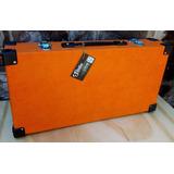 Pedalboard Plana Plataforma Pedales Orange Estuche Rigido