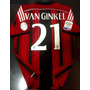 Camiseta Ac Milan 2015 Titular Van Ginkel Serie A Italia