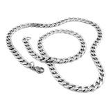 Cadena Collar Hombre - Eslabon Cubano - Acero Quirúrgico
